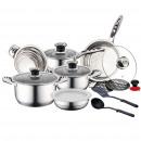 Herzberg HG-16SSG: 16-Piece Cookware Set e