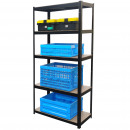 wholesale Bath Furniture & Accessories: Herzberg HG-8027BLK: Coated Storage Shelf