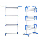 wholesale Fashion & Apparel: Herzberg HG-8034BLU: Moving clothes rack