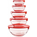 Herzberg HG-5007; Set of glass bowls transp