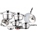 wholesale Pots & Pans: Royalty Line RL-16B; Stainless steel pans set 16p