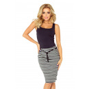 wholesale Skirts: 127-2 SKIRT with pockets and drawstring - stripes