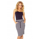 wholesale Skirts: 127-3 SKIRT with pockets and drawstring - stripes
