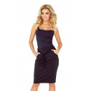 wholesale Skirts: 127-4 SKIRT with pockets and drawstring - BLACK