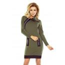 Großhandel Kleider: 129-7 JUSTYNA Kleid mit drei Schlössern