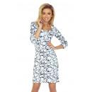 Großhandel Kleider: 136-1 Kleid mit schönem Ausschnitt und 3/4 Arm -