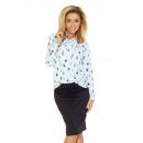 Großhandel Pullover & Sweatshirts: 140-2 Bluse mit Krawatte vorne - WEISS in EULEN