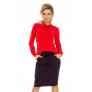 wholesale Shirts & Blouses: 140-3 Blouse with a tie at the front - RED
