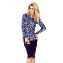 Großhandel Hemden & Blusen: 140-7 Bluse mit Binding vorne - DARK JEANS +
