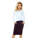 Großhandel Pullover & Sweatshirts: 140-8 Bluse mit Krawatte vorne - WEISS