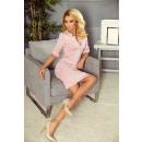 Großhandel Kleider: 161-5 AGATA - Kleid mit Kragen - DIRTY PINK