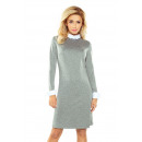 Großhandel Pullover & Sweatshirts: 167-1 COLLAR Sweater Kleid - grau