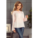 wholesale Shirts & Blouses: 181-4 Blouse with a flared sleeve - PEACH