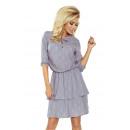 182-2 TINA Sukienka z podwójną spódnicą i rękawkie