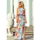 groothandel Kleding & Fashion: 191-5 MAXI-jurk in de nek gebonden met een split -