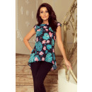wholesale Shirts & Blouses: 201-2 Loose blouse with two pockets - BLACK W.