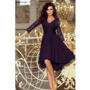 Großhandel Kleider: 210-2 NICOLLE - Kleid mit längerem Rücken aus Spit