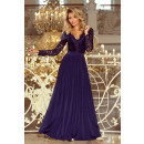 wholesale Dresses: 214-1 MADLEN long dress with lace neckline and
