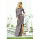 groothandel Kleding & Fashion: 220-6 MAXI sportjurk met split - GRIJS
