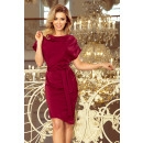 Großhandel Röcke: 240-2 ROXI Kleid mit asymmetrischem Rock und Gürte