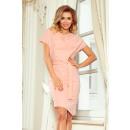 Großhandel Röcke: 240-3 ROXI Kleid mit asymmetrischem Rock und Gürte