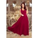wholesale Dresses: 246-1 CINDY long dress with neckline - Bordeaux