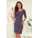 Großhandel Jeanswear: 255-1 IRIS Kleid mit Falten - JEANS IN DOTS
