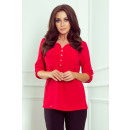 wholesale Shirts & Blouses: 259-1 Blouse with buttons - RED