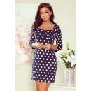 Großhandel Kleider: 263-1 ADELA Kleid mit Ausschnitt - Dunkelblau in G