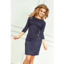 wholesale Jeanswear: 38-5 Dress with zippers - Navy Blue Jeans