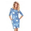 Großhandel Jeanswear: 40-11 Jola Kleid mit Taschen - JEANS - WEISS