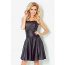 Großhandel Erotik Bekleidung: 83-2 Korsettkleid aus Kunstleder - schwarz