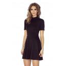 Großhandel Kleider: MM 011-3 Kleid mit Rollkragen und kurzen Ärmeln