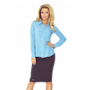 wholesale Shirts & Blouses: MM 016-2 Shirt with a basque - BLUE