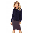wholesale Shirts & Blouses: MM 016-5 Shirt with a basque - NAVY BLUE