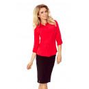 Großhandel Hemden & Blusen: MM 017-1 Einfaches Hemd mit Knöpfen - ROT