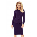 wholesale Shirts & Blouses: MM 017-3 Simple shirt with BUTTONS - NAVY BLUE
