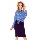 wholesale Shirts & Blouses: MM 018-2 Shirt with POCKETS - jeans + LARGE HEART