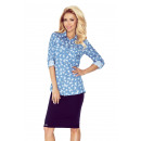 wholesale Jeanswear: MM 018-6 Shirt with POCKETS - LIGHT JEANS + MOT