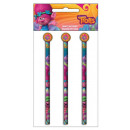 Trolls pencil eraser big round, 3 / cs
