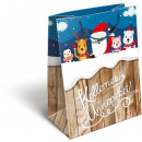 Sacchetto regalo di Natale 23x18x9cm bambini GSM