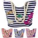 Großhandel sonstige Taschen: Aktionssortiment: 10 Patch Shopper Ahoi Tasche