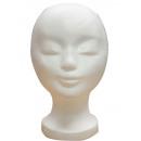 Model Head Classic Woman Styrofoam White Cap Holde