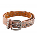 wholesale Belts: Ladies Belt Star Studs Shimmering Belt Metal