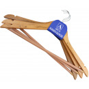 Set of 3 hanger wood hangers wardrobe on