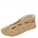Zamszowe pantofle z prawdziwej skóry, przytulne fu