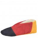 Zamszowe pantofle z prawdziwej skóry przytulne fut