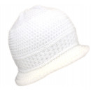 Knitted hat peaked cap winter hat wool women white