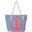 Großhandel Handtaschen: Strandtasche Anker Lena Beachbag Shopper Mariti