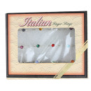 Rings Set of 12 Silver Costume Jewelery Pebbles